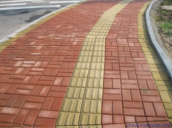 路面砖铺装效果