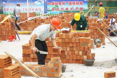 多孔砖砌筑现场